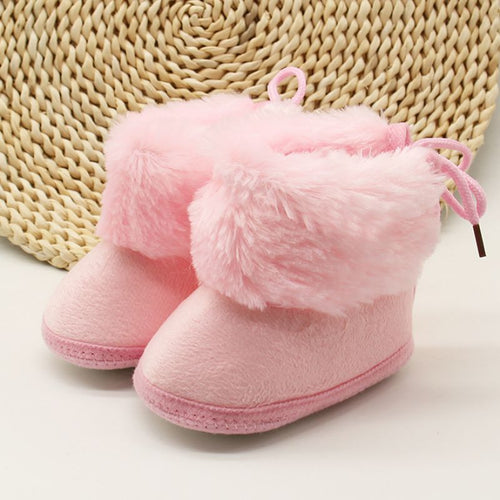Winter Sweet Newborn Baby Girls Princess Winter Boots First Walkers