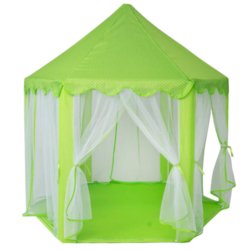 Play Tent Portable Folding Prince or Princess Tent Children Castle Play House