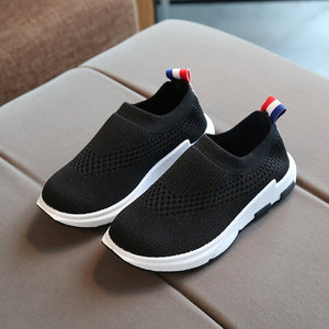 Kids Sneakers Running Children Shoes Boys Sport Shoes Girls Breathable Knit Socks Sneakers Outdoors Soft Casual Shoe