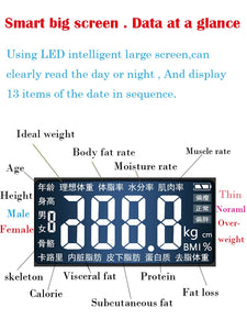 MH-Bathroom Body Weight Scale Scales Glass Smart Household Electronic Digital Floor Weight Balance  LCD Display