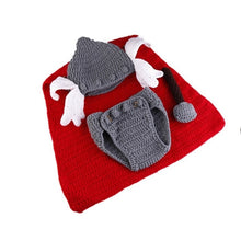 Load image into Gallery viewer, Superhero Newborn knitted Baby Winter Hat Costume for viking babies.