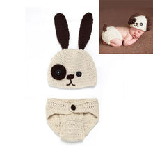 Load image into Gallery viewer, BAB- Hand Made Newborn Baby girls and boys Pants Knit Hat Set Cute Baby Hand Made Crochet
