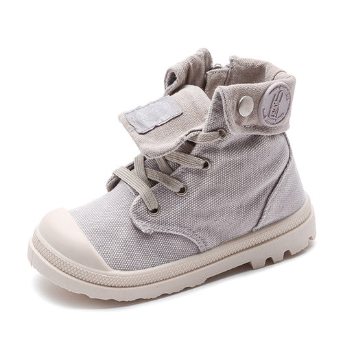 SH-2019   Kids Sneakers High Children's Canvas Shoes