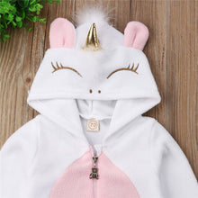 Load image into Gallery viewer, ZG-Baby Girl 3D Unicorn Flannel Rompers girls Zipper Jumpsuit Newborn Romper Clothes
