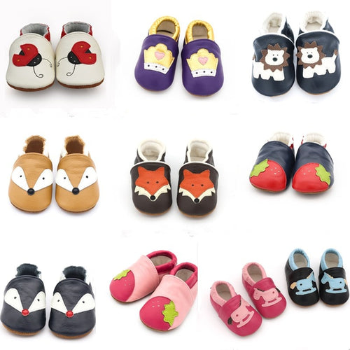 SH- 2019 New Skid-Proof Baby Shoes Soft Genuine Leather Baby Boys Girls Infant toddler Moccasins Shoes Slippers First Walkers