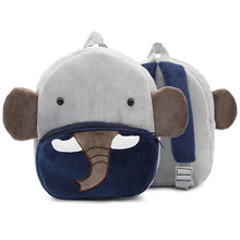 Load image into Gallery viewer, BP- Animal Plush Backpack Cartoon School Shoulder Bag Kid Snack Plush  Soft Baby Monkey, Lion,Tiger, Shark, and Elephant
