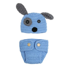 Load image into Gallery viewer, BAB- Newborn Baby Clothes Girls Boys Crochet Knit  Carrot or Bone sold separately for decor Rabbit Baby Caps Hats