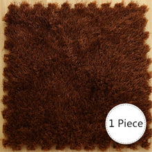 Load image into Gallery viewer, One Piece 30x30CM Foam DIY Puzzle Mat. Long Hair, Villi Shaggy Carpet Mat-Plush Soft Area Rug for children's play area.