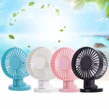 Load image into Gallery viewer, USB Charging Portable Handheld Electric Fan Air Conditioner Cooler Cooling Fan Summer Desk Table Cooling Fans Blue Pink