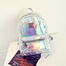 Load image into Gallery viewer, BP-2019  Hologram Backpack Casual PU Travel  Fashion School Backpacks For Teenager with Pizzazz!