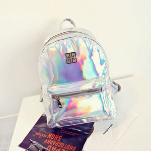 BP-2019  Hologram Backpack Casual PU Travel  Fashion School Backpacks For Teenager with Pizzazz!