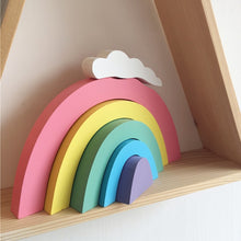 Load image into Gallery viewer, RD- Kids Room Rainbow Decoration Wooden Rainbow Building Blocks Children's Decorative Toys