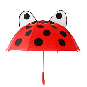 UM- Children's Umbrella with long-handled 3D ear or crown.