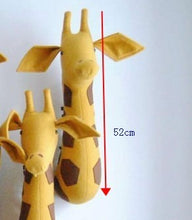 Load image into Gallery viewer, Stuffed Animals Giraffe Felt Wall Mounted Animal Head Safari Wall Hanging