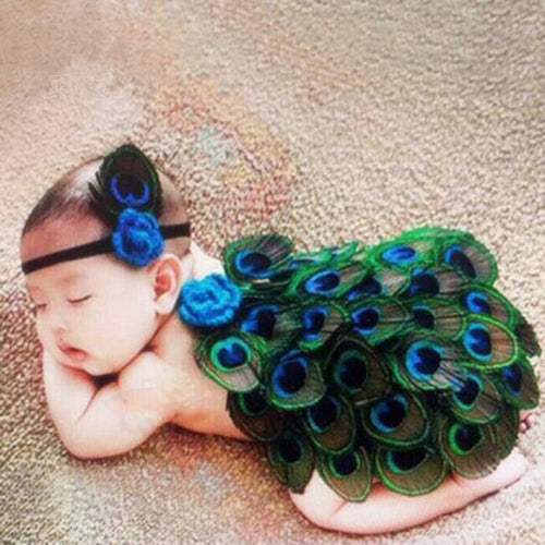 Peacock Costume Studio Newborn Hats Cute Peacock Baby Clothing Set