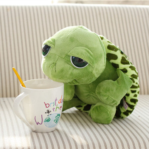 Tabasco Tortoise 20cm (7.87 inches) Extraordinarily Cute Turtle with Big Green Eyes Full of Love.