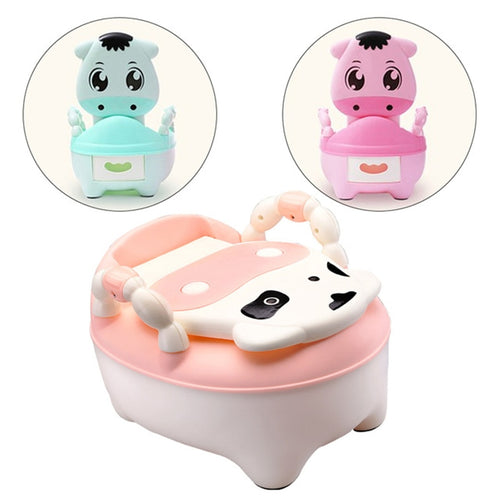 Children's Portable Potty with Soft cushioned ring.  Baby Girls and  Boys Hygienic Portable Training Seat. Potty Training Chair.