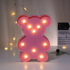 3D Love Heart Marquee Letter Lamps Indoor Decorative Nights Lamps LED Night Light.
