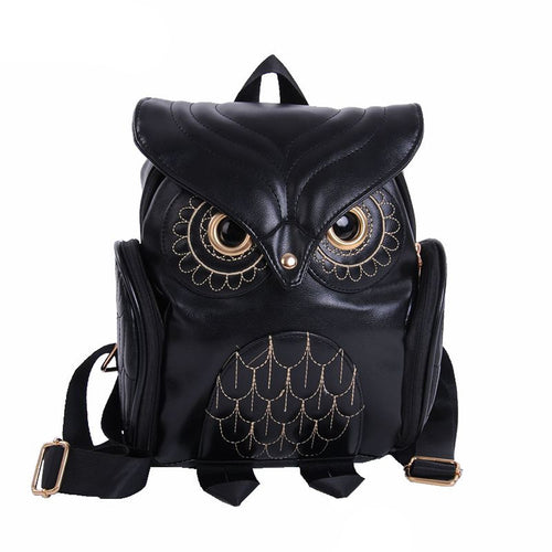 BP- Cute Owl Fashion Backpacks Cartoon  Backpack Softback School Bags