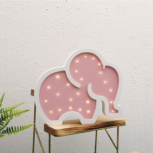 Room Decor Wooden Unicorn, Elephant, LED Night Light