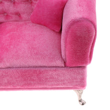 Load image into Gallery viewer, 1/6 Scale Pink Double Couch Long Sofa Model for  Dolls High quality Fashion Dollhouse Furniture.