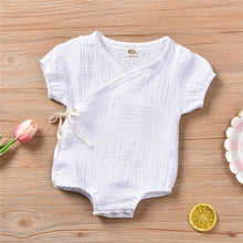 Load image into Gallery viewer, ZG 0-18M Newborn Kids Baby Boy Girls Clothes Summer Short Sleeve  Romper  Casual Cute lovely Outfits new born Sunsuit