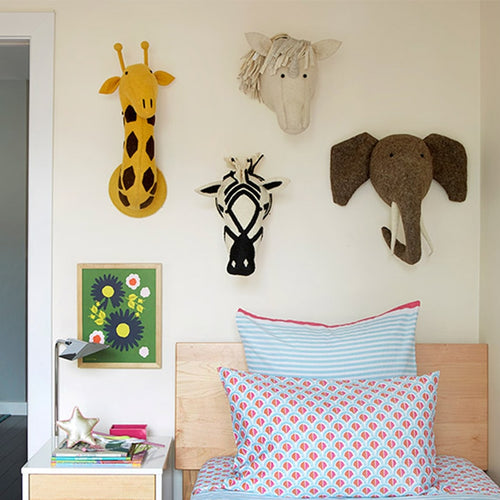 RD- Hand made Felt Animal Head For Kids Room Decoration Nursery Wall Decor Fox Elephant Swan Handmade Animal
