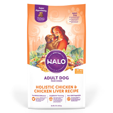 Halo Adult Holistic Chicken & Chicken Liver Recipe Dry Dog Food