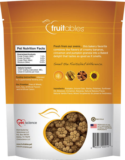 Fruitables Crunchy Pumpkin & Banana Dog Treats