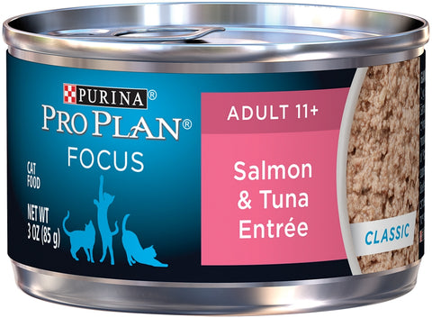 Purina Pro Plan Focus Senior Cat 11+ Salmon & Tuna Entree Canned Cat Food