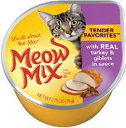 Meow Mix Tender Favorites Real Turkey and Giblets Canned Cat Food