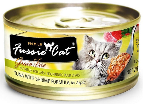 Fussie Cat Premium Tuna with Shrimp Formula in Aspic Canned Food