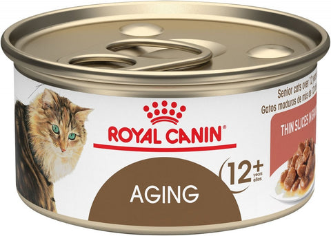 Royal Canin Aging 12+ Senior Thin Slices in Gravy Canned Cat Food
