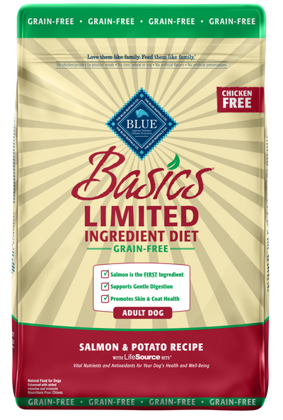 Blue Buffalo Basics Grain Free Adult Salmon & Potato Recipe Dry Dog Food