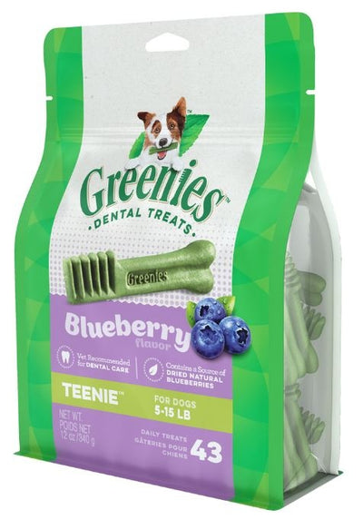 Greenies Teenie Blueberry Dental Dog Chews