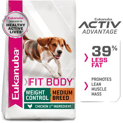 Eukanuba Fit Body Weight Control Medium Breed Dry Dog Food