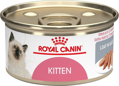 Royal Canin Feline Health Nutrition Kitten Instinctive Loaf in Sauce Canned Cat Food