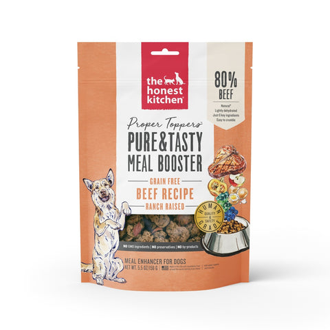 The Honest Kitchen PROPER TOPPERS Grain Free Beef Dog Food Pouch