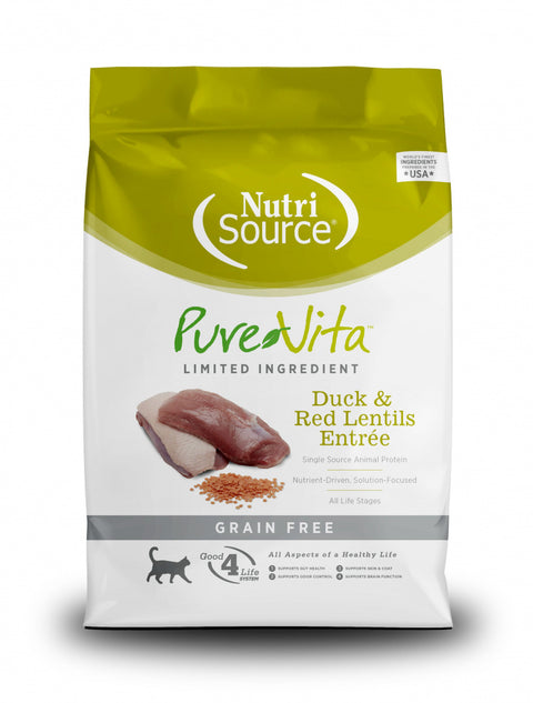 PureVita Grain Free Duck & Red lentils Dry Cat Food