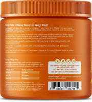Zesty Paws Omega Bites For Skin & Coat Support Chicken Flavor with Alaskan Fish Oil Soft Chews for Dogs