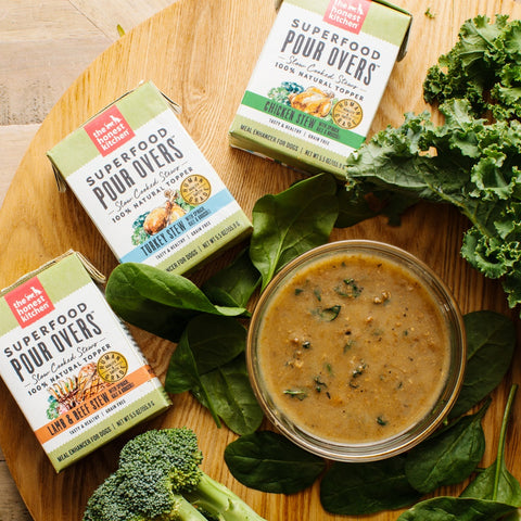 The Honest Kitchen Pour Overs Grain Free Turkey Stew with Spinach, Kale, & Broccoli Food Topper for Dogs
