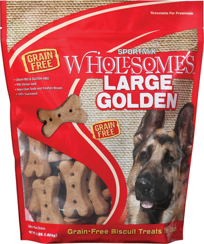 SPORTMiX Wholesomes Large Golden Biscuits Grain Free Dog Treats