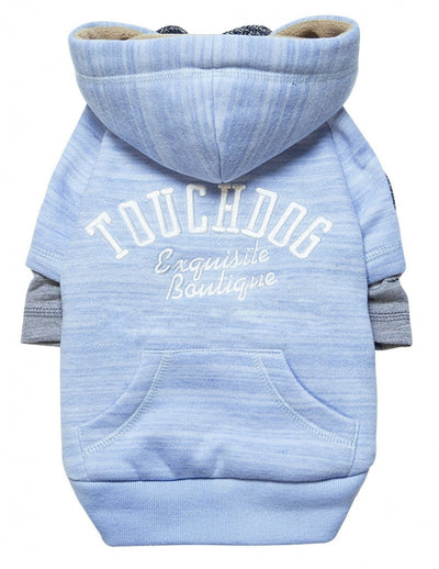 Pet Life Touchdog Hampton Beach Ultra Soft Cotton Blue Dog Hoodie