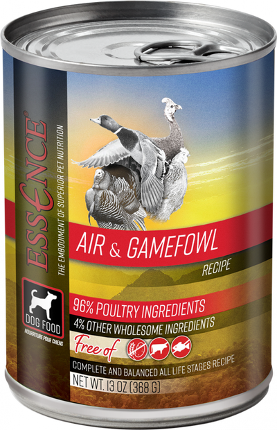 Essence Grain Free Air & Game Fowl Recipe Canned Dog Food