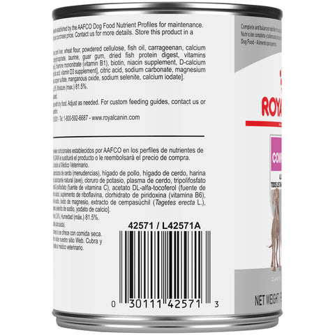 Royal Canin Care Nutrition Comfort Care Loaf in Sauce Canned Dog Food