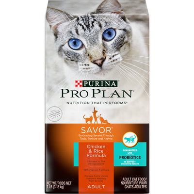 Purina Pro Plan Savor Chicken & Rice Formula Dry Cat Food