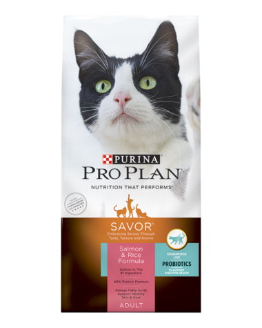Purina Pro Plan Savor Salmon & Rice Formula Adult Dry Cat Food