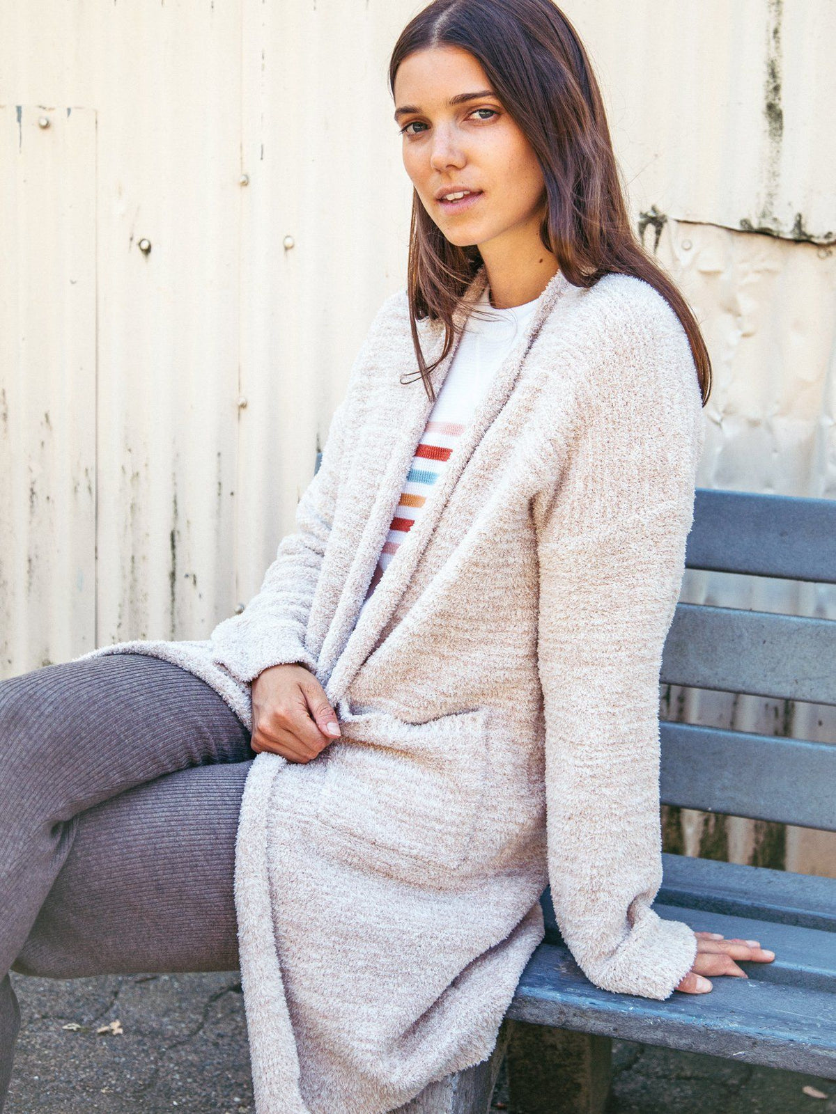 Amaya Cardigan Cardigan Thread & Supply Taupe S