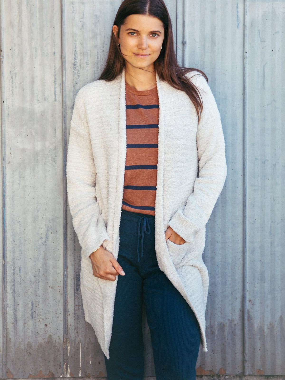 Amaya Cardigan Cardigan Thread & Supply Light Grey S