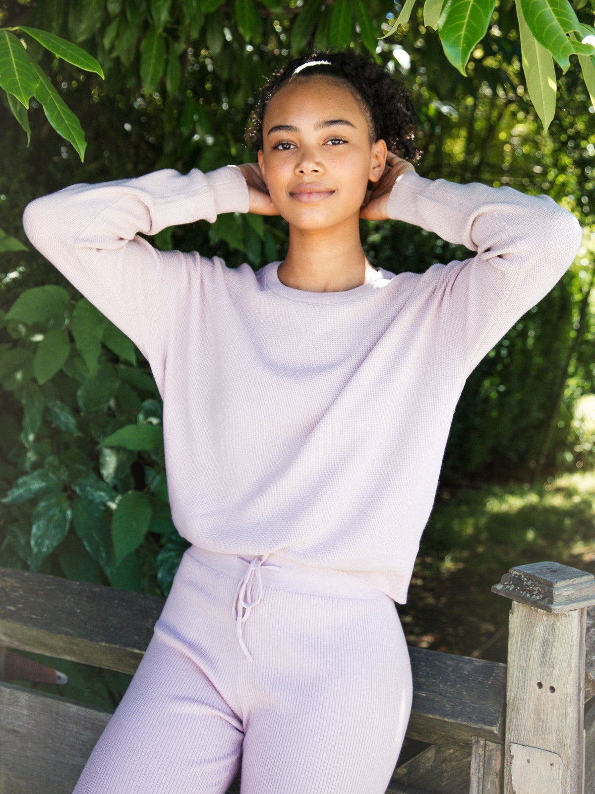 Calvin Thermal Long Sleeve Long Sleeve Thread & Supply S Soft Mauve